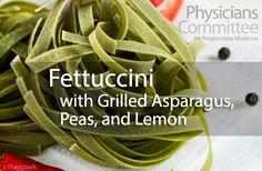 Fettuccine with Grilled Asparagus, Peas, and Lemon /skip salt/