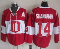 """$35.88 at """"MaryJersey""""(maryjerseyelway@gmail.com) Red Wings 14 Brendan Shanahan Red Winter Classic CCM Throwback Stitched NHL Jersey"""