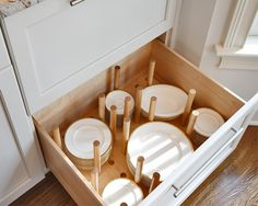 Plate drawer - t make it easier for children to set the table