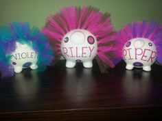 GIRLS Personalized Piggy Bank with TUTU GEMS by ByJusteenCrafts