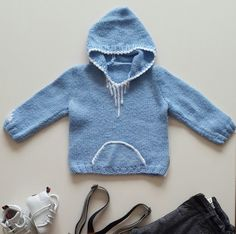 baby hooded sweaterchild knitting clothesgift by NORTHsKNITTINGs