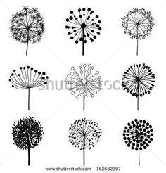 Floral Elements for design dandelions. Vector illustration Floral Elements for design dandelions. Vector illustration The post Floral Elements for design dandelions. Vector illustration appeared first on Diy Flowers. Wood Burning Crafts, Wood Burning Patterns, Wood Burning Art, Wood Burning Projects, Wood Burning Stencils, Stencil Wood, Stencil Art, Stenciling, Illustration Vector