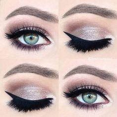 Un color con brillo y un buen delineado pueden ser tus aliados para ese día especial. #Boda #Novias #Eye #Look