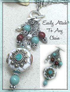 Beautiful Beaded Swarovski Pearl Pendant – Bead Dangle Design
