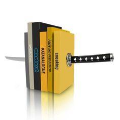 Magic Ninja Katana Bookends // 10 BOOK Furniture Design Pieces Every Bookworm Should Have