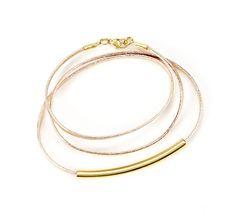 Leather plated wrap bracelet