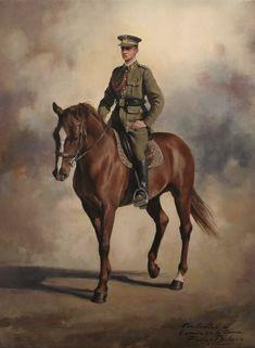 Único retrato del rey don Juan Carlos I de España a caballo. Pintado por Ferrer Dalmau.