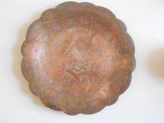 Islamic antique copper plate / dish