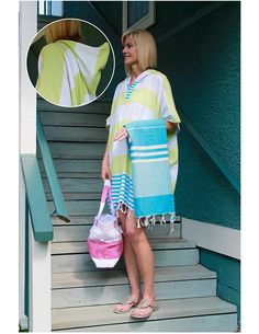 Turkish Cotton Kaftan Cover-ups, Bags, and Towels