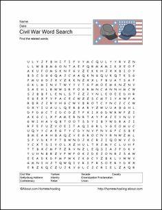 American Civil War printable
