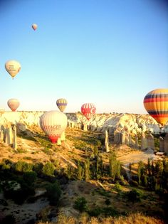 Cappadocia - Hot air balloon  One of beautiful landscape in Turkey..