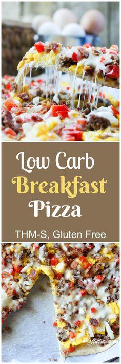 Low Carb Breakfast Pizza (THM-S, Gluten Free)