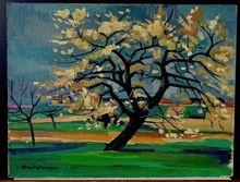 Jean MONTCHOUGNY (1915-2008) - Cerisier fleuri