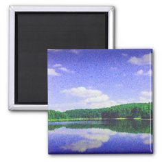 Motts Run Lake Photo Picture of Motts Run Fredericksburg Virginia. Multiple sizes are available. Picture of a warm summer day with a beautiful white cloud sky. The blue sky and white clouds reflect in the lake to make a wonderful image. Great for home or office decor. Also a great gift idea for holidays, birthdays, anniversary, and house warming.