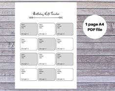 Excited to share this item from my shop: Printable Birthday Gift Tracker Printable Planner, Printables, First Page, Life Organization, Paper Goods, Helping People, Marketing And Advertising, Create Yourself, Printer