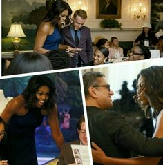 First lady Michelle Obama at Fashion Education Workshop