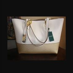 Polo Ralph Lauren large purse BRAND NEW and gorgeous Polo Ralph Lauren large purse!  This bag is very stylish, classy and matches with almost all outfits, and shoes! It's a steal at 1/2 off original price...will make a great gift for someone special  Trade  100% Authentic!!!! Polo by Ralph Lauren Bags