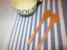 Amazon.com: Handcrafted Long Handle Cherry Wooden Spoon Spatula Set: Handmade