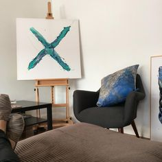 Mixed Media Artwork, Sit Back, Cool Artwork, Accent Chairs, Walls, Colour, Instagram Posts, Furniture, Home Decor