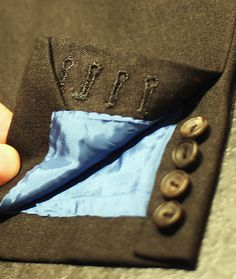 Elegance is all in the details. Learn about the buttonholes on a handmade suit here.