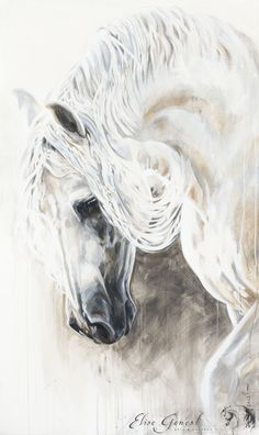 Created by Elise Genest. Painted Horses, Horse Drawings, Animal Drawings, Arte Equina, L'art Du Portrait, Horse Artwork, Country Art, Equine Art, Pretty Horses