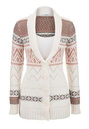 I have this and love it!  Patterned button down cardigan with collar - maurices.com