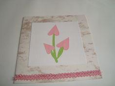 Tarjeta flores de Corazón