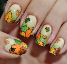 Make sure your nails make a statement when you're passing around the pumpkin pie this year. Check out Amanda's festive nails: http://www.preen.me/look/1018078