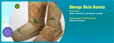 DIY Painted Sheep Skin Boots
