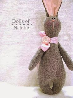 Conejos III + ideas y patrones gratis . Softies, Plushies, Diy Pour Enfants, Sewing Crafts, Sewing Projects, Sock Toys, Fabric Toys, Sock Animals, Sewing Dolls