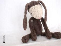 The Brown Bunny by eveluche, via Flickr. #amigurumi