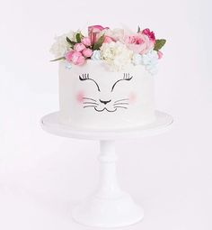 How purrfect is this kitty cat cake by @mudgeemade?! This cutie was for a lucky girl turning 12 who had requested pink, blue, flowers and a kitten on top! The cuteness! I'm SO excited to be getting a cake made by the lovelies @mudgeemade this week for a special person's birthday! Wishing you a sweet and happy day! Xx #mudgeemade #mudgeensw #meow #kittycat #cat #cats #catcake #cute #sydney #nswfood #babyshower #babyshowercake #pastry #patisserie #bakery #cakes #blooms #flowers #caked...