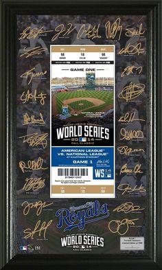 Kansas City Royals 2014 World Series Signature Ticket Kc Royals Baseball, Rangers Baseball, Kansas City Missouri, Kansas City Royals, Cool Ideas, 2014 World Series, American League, San Francisco Giants, Sports