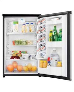 DAR044A5BSLDD in Black With Stainless Steel Look by Danby in Essex Junction, VT - 4.40 cu. ft. Compact All Refrigerator