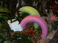 Tires in the garden (Philly Flower Show)
