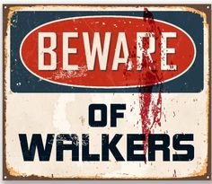 Funny Bedroom Door Area Medium Metal Tin Sign Warning not checked for Zombies