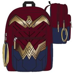 Get it at Kirin Hobby! (UPC/EAN: 190371113055) Wonder Woman: Dawn Of Justice [Backpack]
