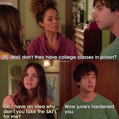 4x14|The Fosters-Lena,Callie and Brandon