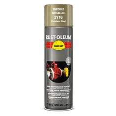 Rust Oleum 2116 Hard Hat Stainless Steel Aerosol Metal Spray Paint 500ml