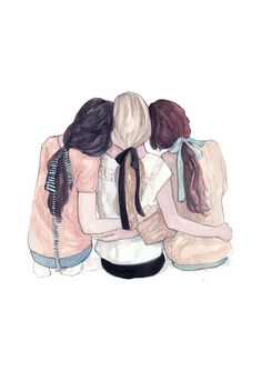 Best friend drawings, how to draw hair, friends illustration, illustration girl Best Friend Drawings, Bff Drawings, Best Friend Sketches, Drawing Of Best Friends, Bff Pictures, Best Friend Pictures, Best Friends Forever, Illustration Amis, Illustration Fashion