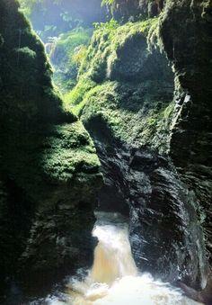 Lydford Gorge in Lydford, Devon