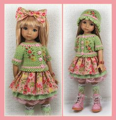 Green and Pink Outfit from maggie_kate_create on ebay ends 8/3/14.