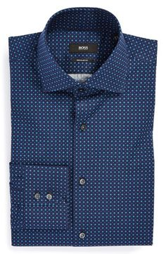 2309f04bc BOSS HUGO BOSS 'Gerald' WW Regular Fit Print Dress Shirt   Nordstrom