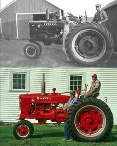 M FARMALL Antique Tractors, Vintage Tractors, Vintage Farm, Antique Cars, Case Tractors, Farmall Tractors, Ford Tractors, International Tractors, International Harvester