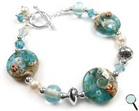 Coastal bracelet...how my cleverly, crafty sister sees this and loves me enough to make me one....