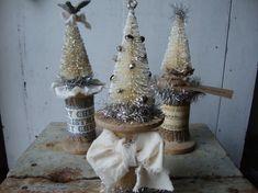 Handmade Vintage Style Bottle Brush Tree by FreshlyFallenDesigns