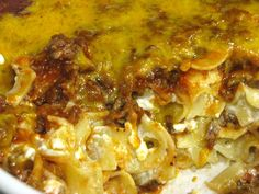 Sour Cream Noodle Bake - actually, all the recipes in this blog look amazing!!! --- I made this for dinner last night, and added more cheddar cheese, extra sour cream and a half block of cream cheese, and it was phenominal!! Next time, I may omit the cottage cheese, but wow! SOOO good!