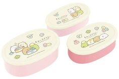 Sumikko Gurashi Set of 3 Bento Box Container $10.50 http://thingsfromjapan.net/sumikko-gurashi-set-3-bento-box-container/ #sumikko gurashi bento box #san x products #kawaii bento box
