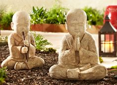 Pier 1 Stone Monks make tranquil, happy additions to your garden