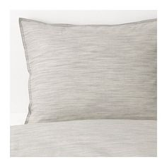 IKEA - SKOGSALM, Duvet cover and pillowcase(s), King, , Woven fiber-dyed cotton from sustainable sources, giving the fabric a special look with fine color shifts – and you get a duvet cover which feels soft against your skin.The zipper keeps the comforter in place.